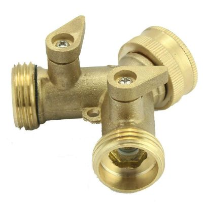 SOMMERLAND A1005 Heavy Duty Brass Y 2 Way Garden Hose Connector