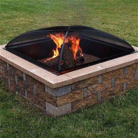 Sunnydaze Square Fire Pit Spark Screen Cover