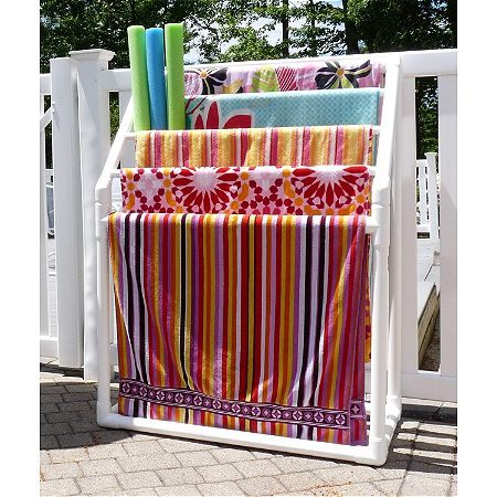 TowelMaid 5 Bar Freestanding Outdoor Spa Towel Rack