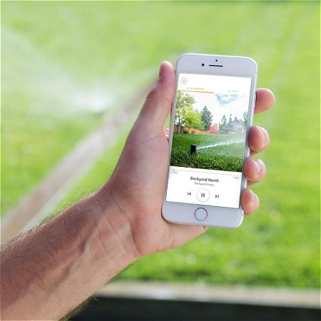 Watering the Lawn on the Rachio 3 app