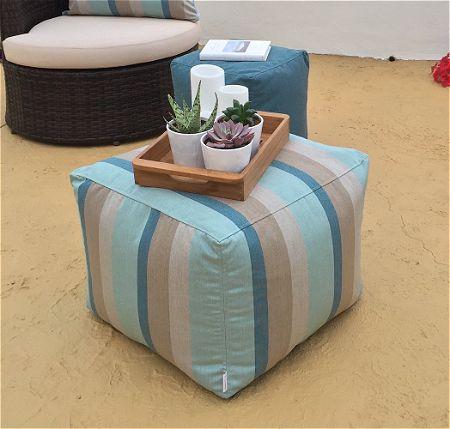 Core Covers Outdoor Indoor Sunbrella Pouf