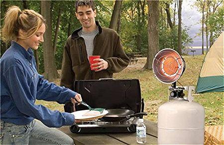 Mr Heater 8-14K BTU Single Tank Top Propane Patio Heater F242100