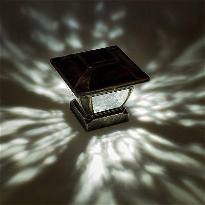 Paradise GL28998BZ Solar Cast Aluminum LED Post Cap Light