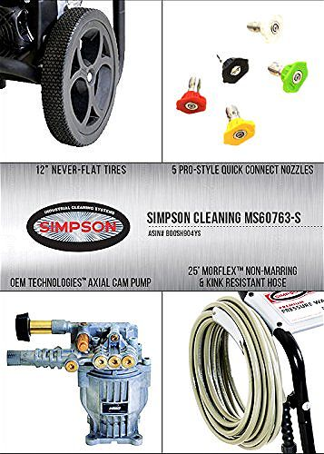 Simpson Cleaning MS60763-S Pressure Washer Features