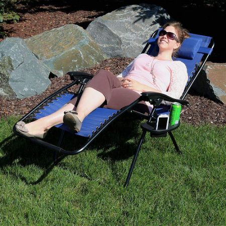 Sunnydaze Outdoor XL Zero Gravity Lounge Chair