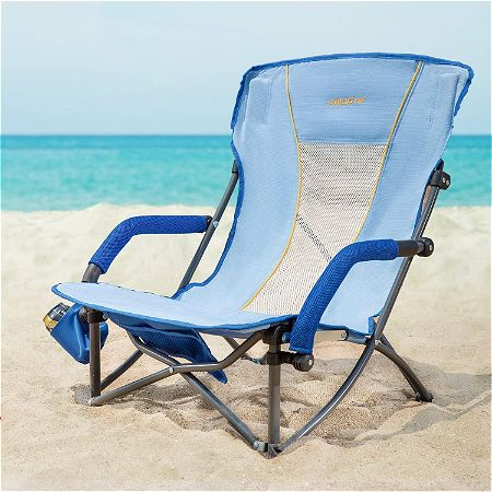 WEJOY Lightweight Compact Low Sling Folding Outdoor Lawn Concert Camping Beach Chair