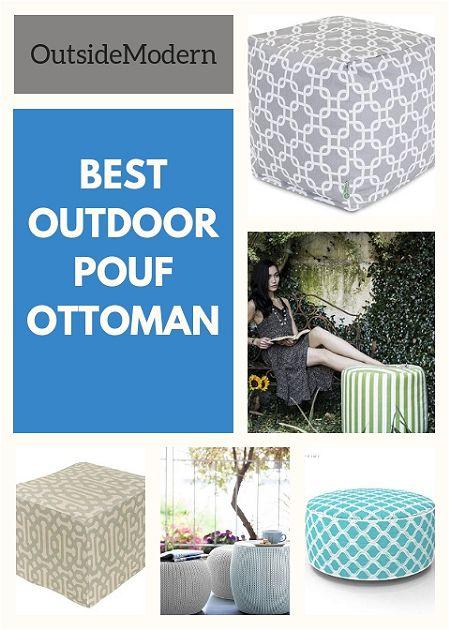 best outdoor pouf