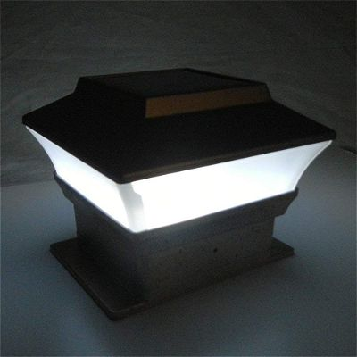 iGlow 8 Pack Copper Outdoor Garden 4 x 4 Solar LED Post Deck Cap