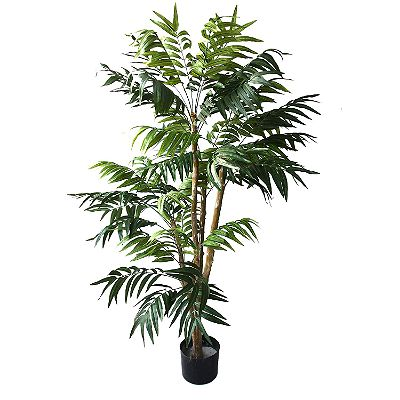Pure Garden 5 Foot Artificial Palm Tree Indoor Outdoor