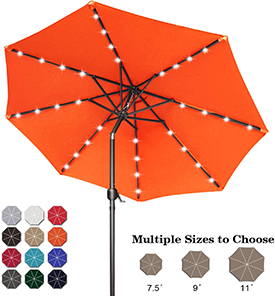 ABCCANOPY 9-Ft 32 LED Aluminum Patio Umbrella, the Best Patio Umbrella with Lights