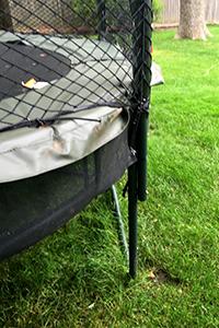 assembled trampoline